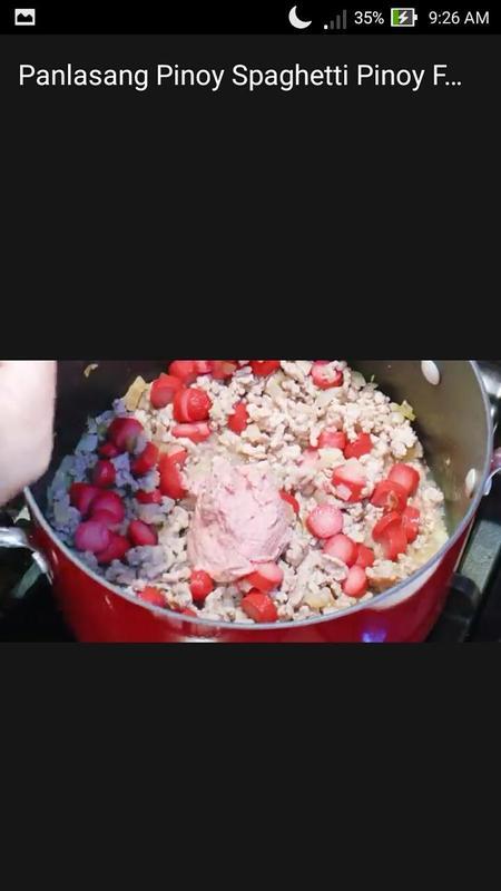 Panlasang pinoy spaghetti pinoy food recipe video apk download panlasang pinoy spaghetti pinoy food recipe video apk screenshot forumfinder Images
