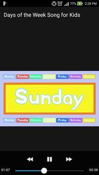 Days of the Week Song for Kids Offline Video screenshot 2