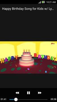 Happy Birthday Song for Kids  w/ Lyrics 9 Minutes screenshot 4