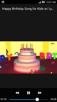 Happy Birthday Song for Kids  w/ Lyrics 9 Minutes screenshot 1