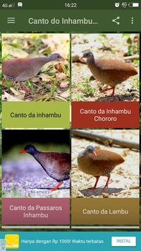 Canto do Inhambu Chororo poster