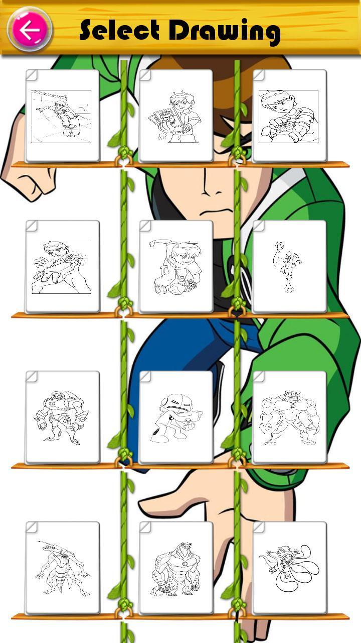 Coloring Book For Ben 10 Alien For Android Apk Download