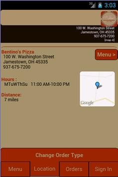 Bentino's Pizza apk screenshot