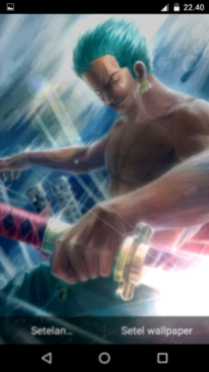 Fanart Roronoa Zoro Mysthic Sword Live Wallpaper For Android Apk Download