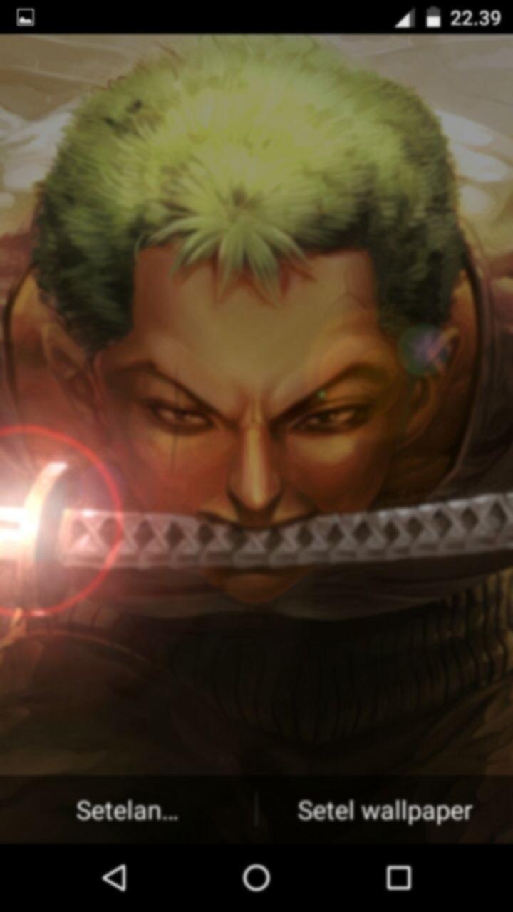 Fanart Roronoa Zoro Mysthic Sword Live Wallpaper For Android