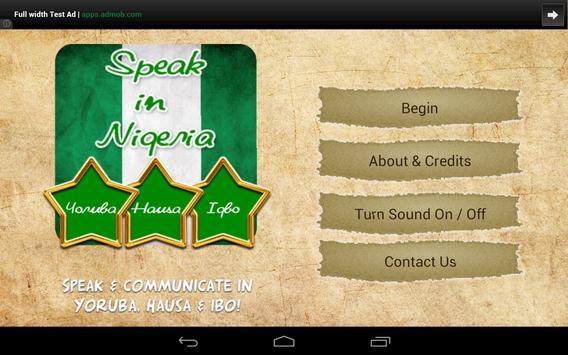 Speak in Nigeria capture d'écran 4