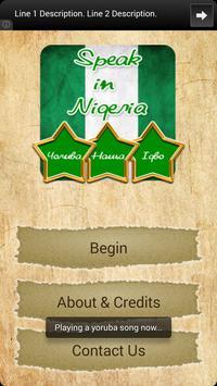 Speak in Nigeria capture d'écran 1