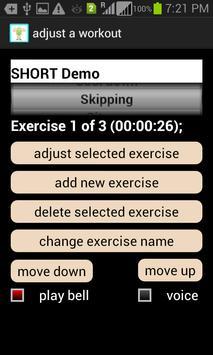 androTrainer voice/music timer apk screenshot
