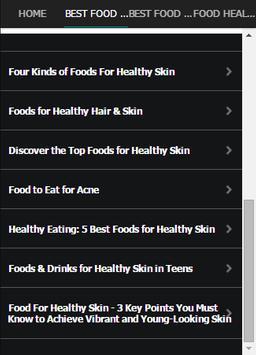 Best Food For Healthy Skin screenshot 2