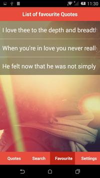 Lovely Romantic Quotes apk screenshot
