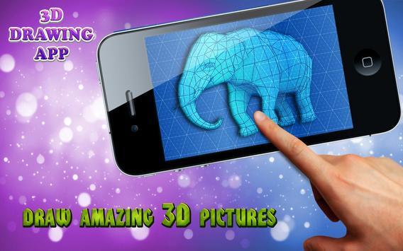 3D drawing app poster