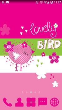 Sweet Bird - GO Launcher Theme screenshot 1