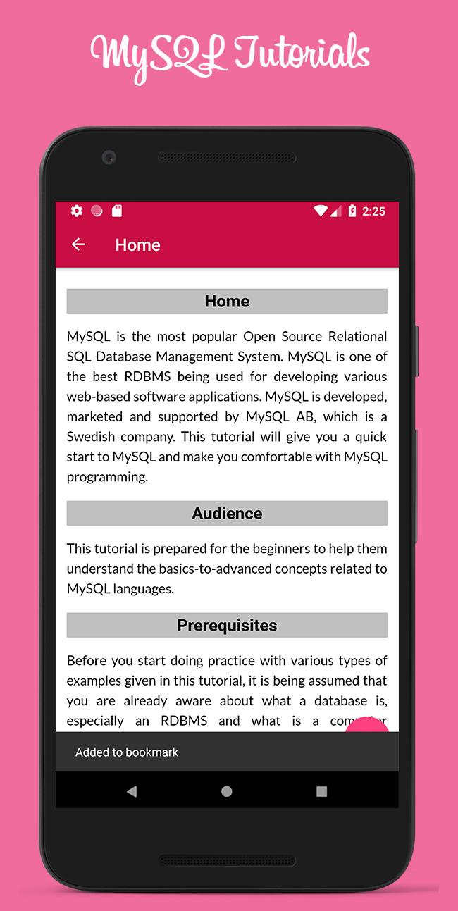 Tutorials for MySQL Complete for Android - APK Download