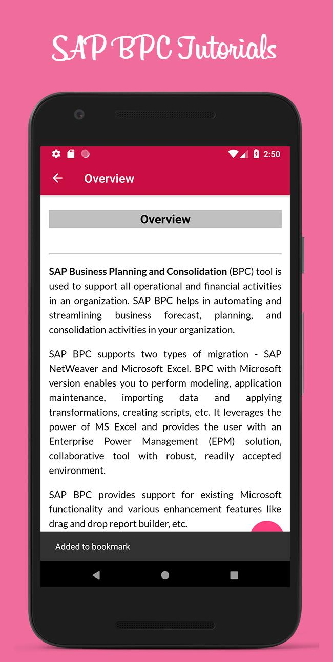 SAP BPC Tutorials Offline for Android - APK Download