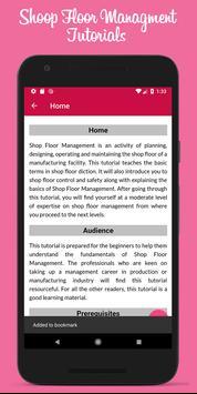 Learn Shoop Floor Management screenshot 3