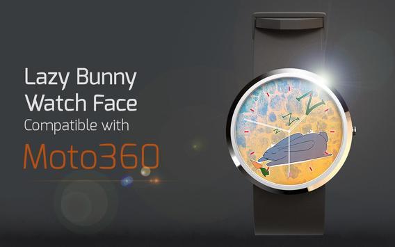 Lazy Bunny Watch Face poster