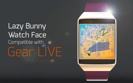 Lazy Bunny Watch Face apk screenshot