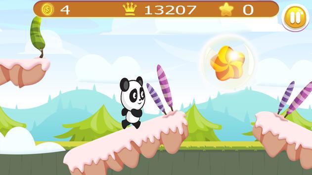 Panda Adventure in Candy world apk screenshot