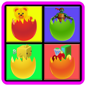memory surprise eggs - toys icon