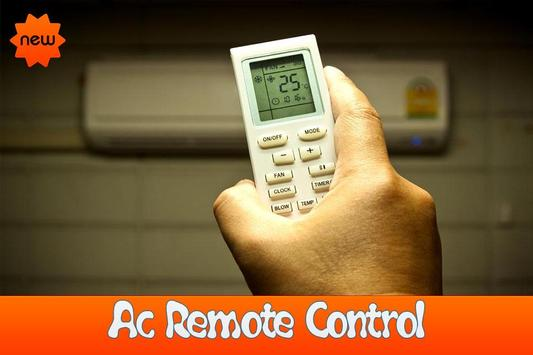 Air conditioner remote control poster