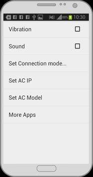 Air conditioner remote control screenshot 1