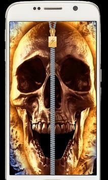 Hell Devil Death Fire Skull Zipper lockscreen 2018 poster