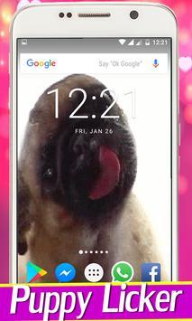 Dog Licker Live Wallpaper 2018 free captura de pantalla 1