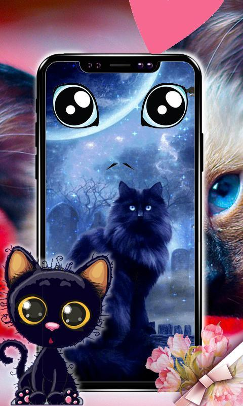 Black Cat Live Wallpaper Black Kitten Wallpapers For Android Apk Download