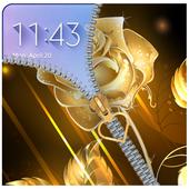 Golden Rose Zipper Lockcreen 2018: Golden Rose zip icon