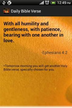 Daily Bible Verses Free apk screenshot