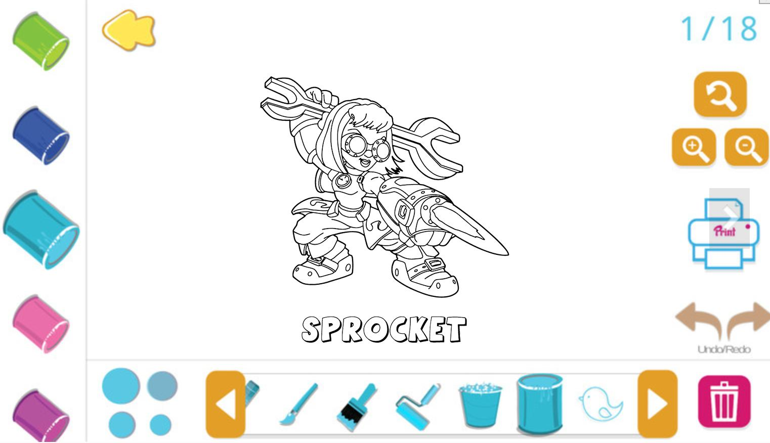 Skylanders Trap Team Coloring Pages Snapshot (With images ... | 876x1522