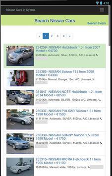 Used Nissan Cars in Cyprus apk screenshot
