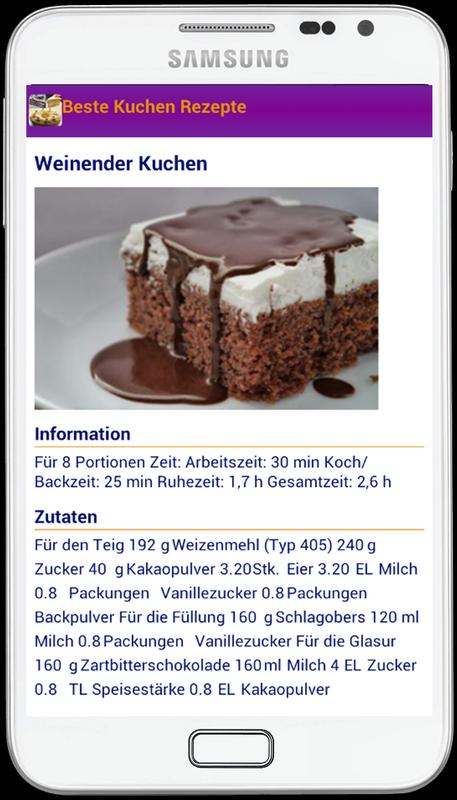 Beste Kuchen Rezepte For Android Apk Download