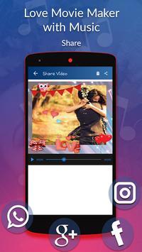 Love Movie Maker with Music screenshot 1
