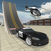 Police Car Stunt Simulation 3D icon