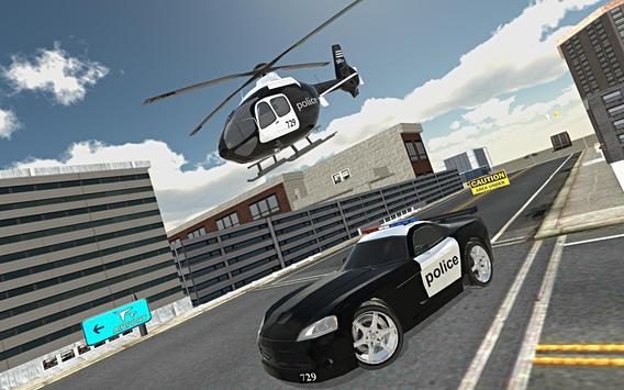 Police Car Stunt Simulation 3D poster