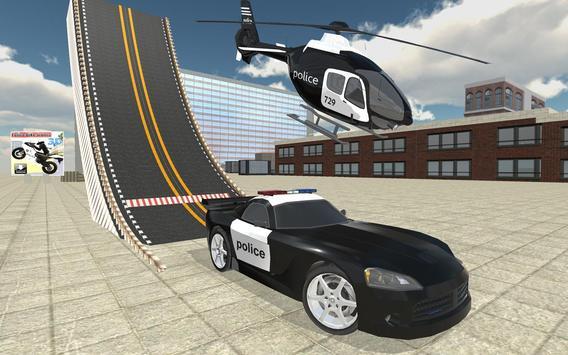 Police Car Stunt Simulation 3D screenshot 23