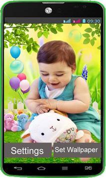 Cute Kids Live Wallpaper poster
