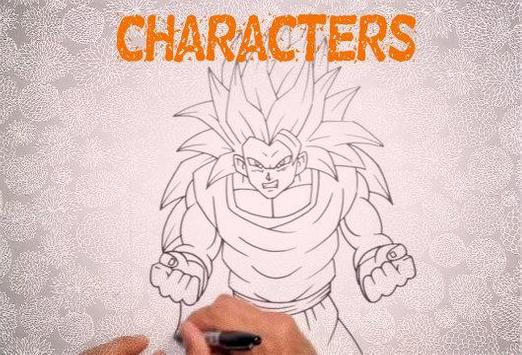 How to Draw DBZ Characters screenshot 3
