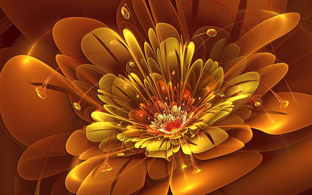 3D Flower Wallpapers poster ...