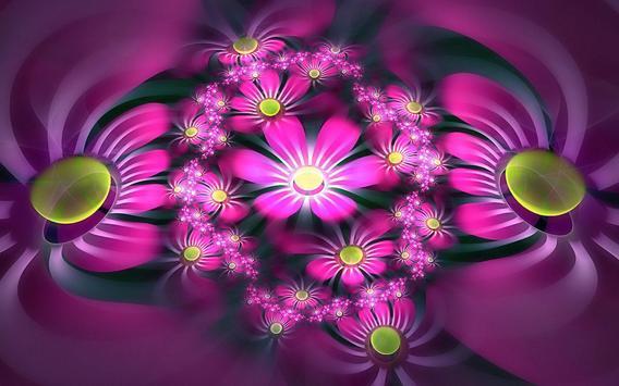 ... 3D Flower Wallpapers apk screenshot ...