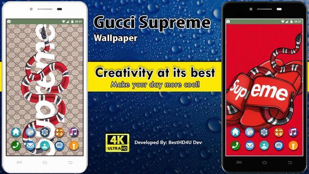 Gucci Supreme Wallpaper poster