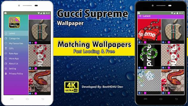 Gucci Supreme Wallpaper screenshot 1