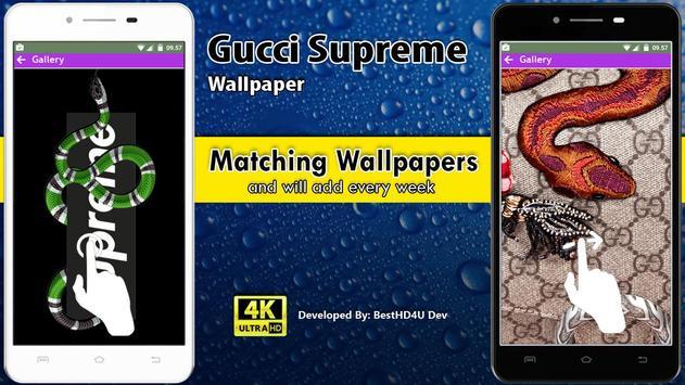 Gucci Supreme Wallpaper screenshot 2