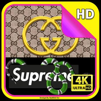 Gucci Supreme Wallpaper screenshot 5