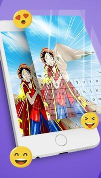 Keyboard Monkey D Luffy Emoji apk screenshot