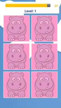 Animals Memory Puzzle Game poster