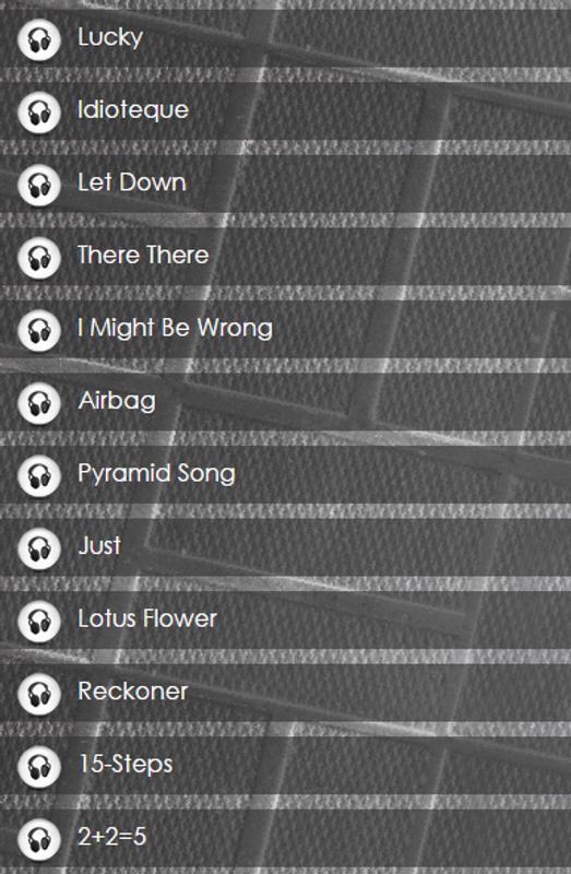 Radiohead lyrics apk download free entertainment app for android radiohead lyrics apk screenshot mightylinksfo