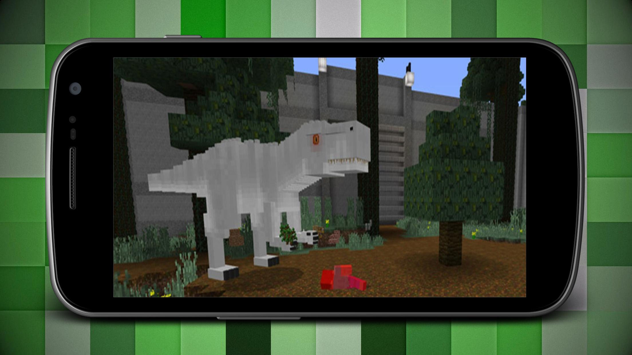 Map Jurassic Craft World Addon for MCPE for Android - APK