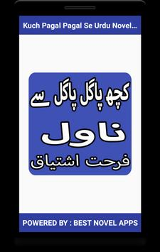 Kuch Pagal Pagal Se Urdu Novel By Farhat Ishtiaq poster